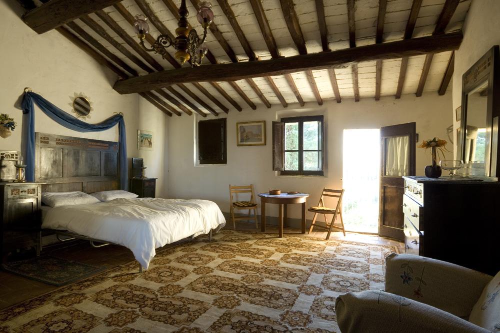 camera per ospiti casa vacanze aglioni toscana